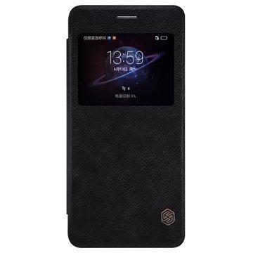Huawei Honor V8 Nillkin Qin Smart Läppäkotelo Musta