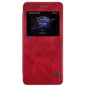 Huawei Honor V8 Nillkin Qin Smart Läppäkotelo Punainen