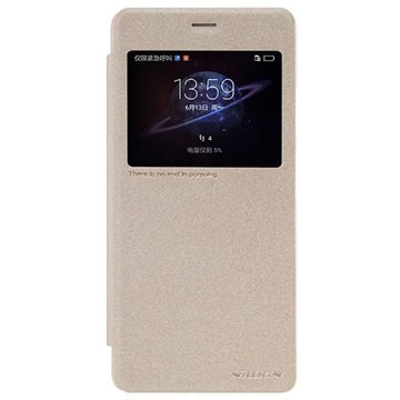 Huawei Honor V8 Nillkin Sparkle View Läppäkotelo Kulta