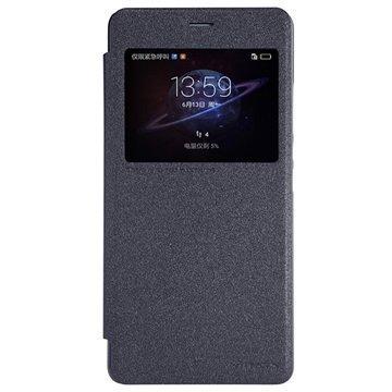 Huawei Honor V8 Nillkin Sparkle View Läppäkotelo Musta