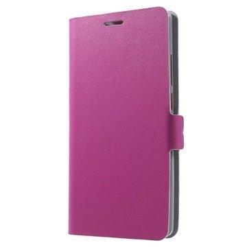 Huawei Mate 8 Doormoon Nahkainen Lompakkokotelo Kuuma Pinkki