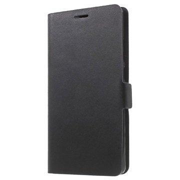 Huawei Mate 8 Doormoon Nahkainen Lompakkokotelo Musta