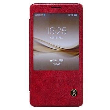 Huawei Mate 8 Nillkin Qin Series Smart View Läppäkotelo Punainen