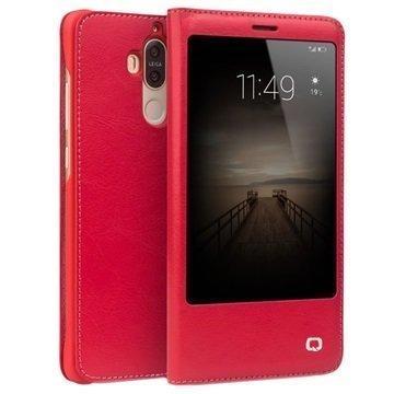 Huawei Mate 8 Qialino Smart View Nahkakotelo Punainen