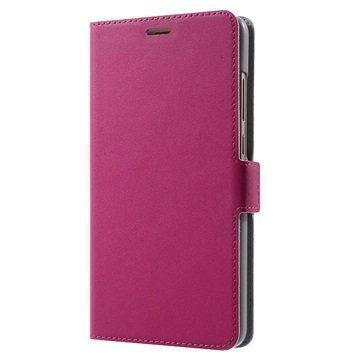 Huawei Mate 9 Doormoon Läppäkotelo Kuuma Pinkki