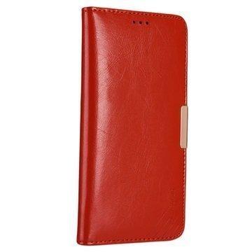 Huawei Mate 9 Kalaideng Royale II Nahkainen Lompakkokotelo Punainen