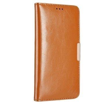 Huawei Mate 9 Kalaideng Royale II Nahkainen Lompakkokotelo Ruskea