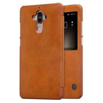 Huawei Mate 9 Nillkin Qin Smart View Flip Case Brown