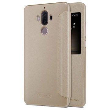 Huawei Mate 9 Nillkin Sparkle Ikkunallinen Kotelo Kulta