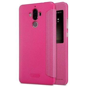 Huawei Mate 9 Nillkin Sparkle Ikkunallinen Kotelo Kuuma Pinkki