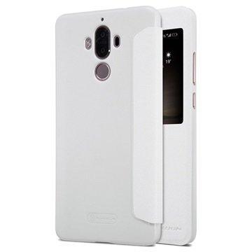 Huawei Mate 9 Nillkin Sparkle Ikkunallinen Kotelo Valkoinen