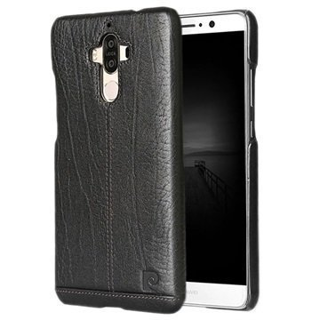 Huawei Mate 9 Pierre Cardin Nahkapinnoitettu Kotelo Musta