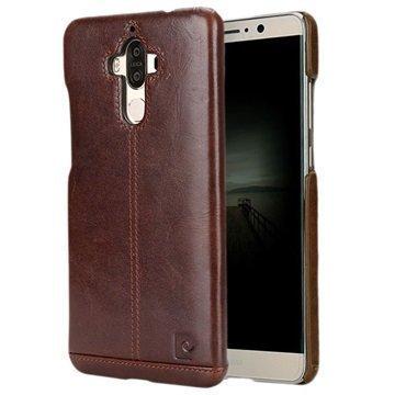 Huawei Mate 9 Pierre Cardin Nahkapinnoitettu Kotelo Tummanruskea