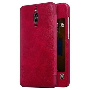 Huawei Mate 9 Pro Mate 9 Porsche Design Nillkin Qin Flip Case Red