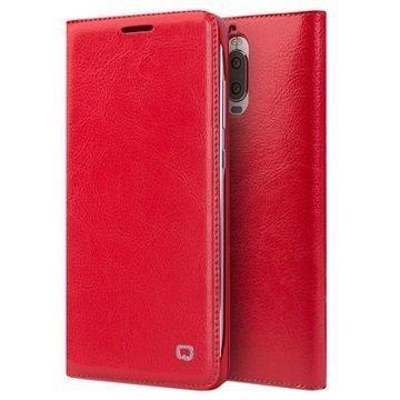 Huawei Mate 9 Pro Mate 9 Porsche Design Qialino Leather Case Red