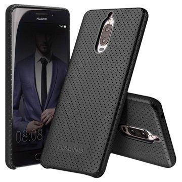 Huawei Mate 9 Pro Mate 9 Porsche Design Qialino Mesh Leather Case Black