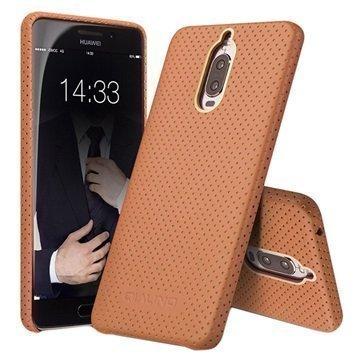 Huawei Mate 9 Pro Mate 9 Porsche Design Qialino Mesh Leather Case Brown