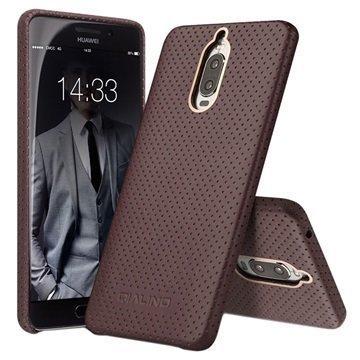 Huawei Mate 9 Pro Mate 9 Porsche Design Qialino Mesh Leather Case Coffee
