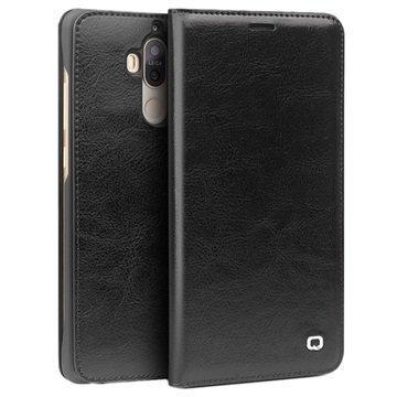 Huawei Mate 9 Qialino Classic Lompakkomallinen Nahkakotelo Musta