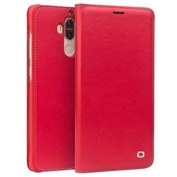 Huawei Mate 9 Qialino Classic Lompakkomallinen Nahkakotelo Punainen