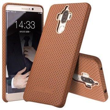 Huawei Mate 9 Qialino Mesh Leather Case Brown