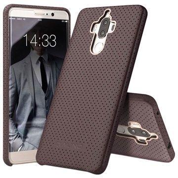 Huawei Mate 9 Qialino Mesh Leather Case Coffee