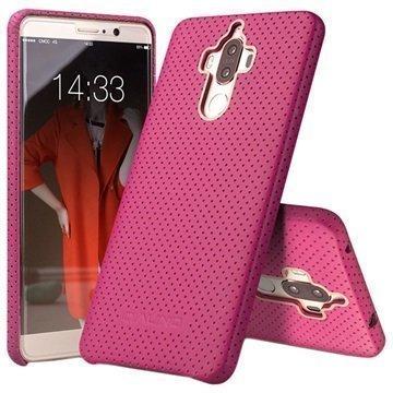 Huawei Mate 9 Qialino Mesh Leather Case Hot Pink