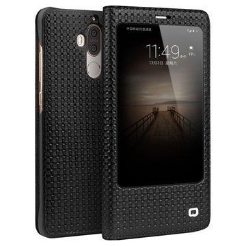 Huawei Mate 9 Qialino Smart View Flip Case Grid Texture Black