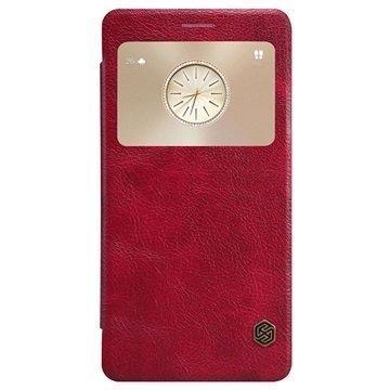 Huawei Mate S Nillkin Qin Series Smart View Läppäkotelo Punainen