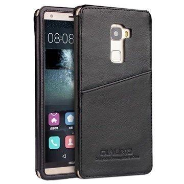 Huawei Mate S Qialino Luxury Slim Nahkakotelo Musta