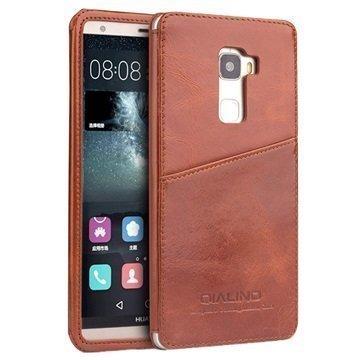 Huawei Mate S Qialino Luxury Slim Nahkakotelo Ruskea