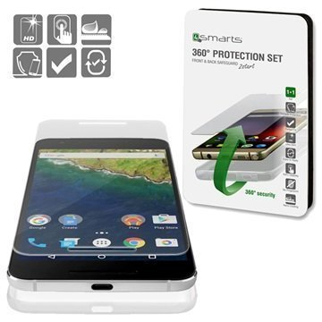 Huawei Nexus 6P 4smarts 360 Suojaussetti Läpinäkyvä