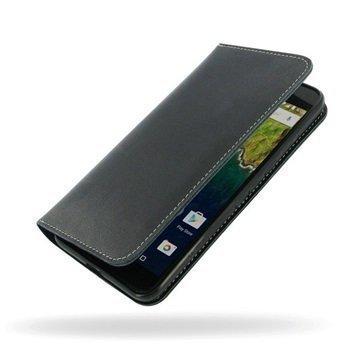 Huawei Nexus 6P PDair Deluxe Book Type Nahkakotelo Musta