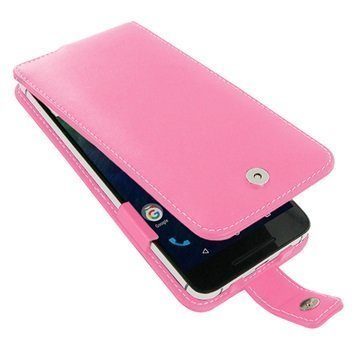 Huawei Nexus 6P PDair Deluxe Nahkainen Läppäkotelo Pinkki