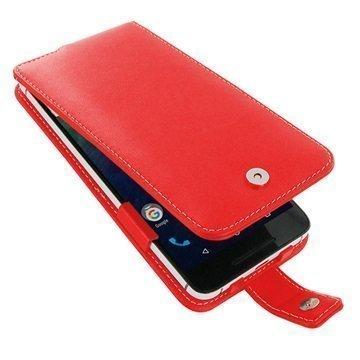 Huawei Nexus 6P PDair Deluxe Nahkainen Läppäkotelo Punainen