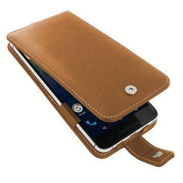 Huawei Nexus 6P PDair Deluxe Nahkainen Läppäkotelo Ruskea