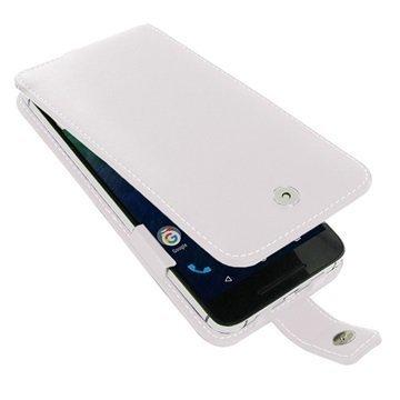 Huawei Nexus 6P PDair Deluxe Nahkainen Läppäkotelo Valkoinen