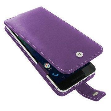 Huawei Nexus 6P PDair Deluxe Nahkainen Läppäkotelo Violetti