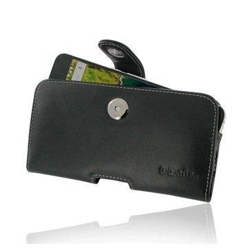 Huawei Nexus 6P PDair Vaakasuuntainen Nahkakotelo Musta