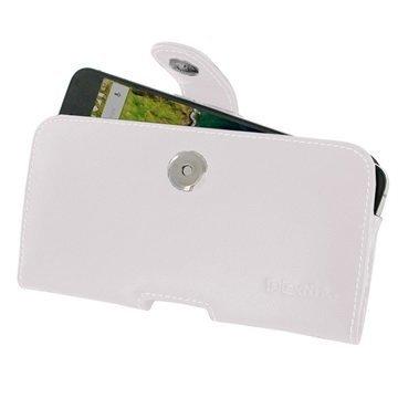 Huawei Nexus 6P PDair Vaakasuuntainen Nahkakotelo Valkoinen