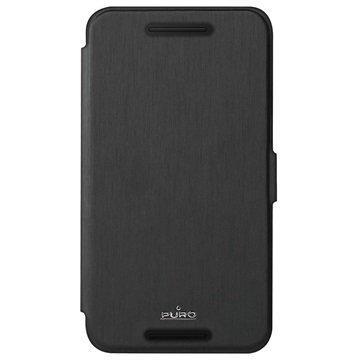 Huawei Nexus 6P Puro Wallet Kotelo Musta