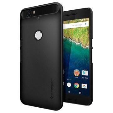 Huawei Nexus 6P Spigen Thin Fit Suojakuori Musta