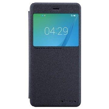 """Huawei Nova Nillkin Sparkle ikkunallinen läppäkotelo â"""" Musta"""