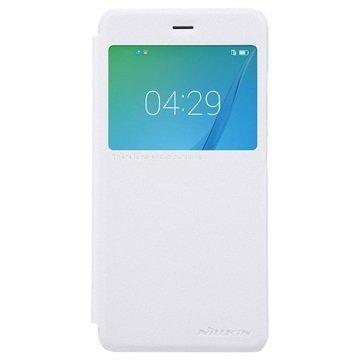 """Huawei Nova Nillkin Sparkle ikkunallinen läppäkotelo â"""" Valkoinen"""