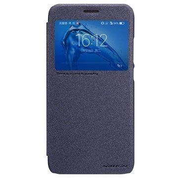 Huawei Nova Plus G9 Plus Nillkin Sparkle Ikkunallinen Kotelo Musta