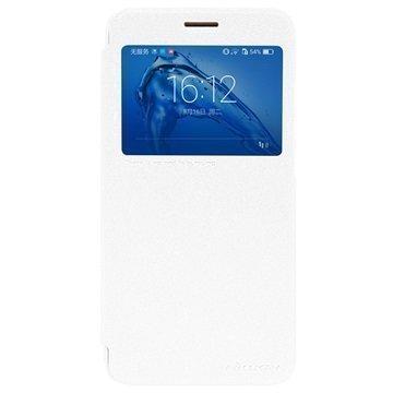 Huawei Nova Plus G9 Plus Nillkin Sparkle Ikkunallinen Kotelo Valkoinen