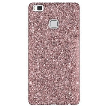 Huawei P10 Lite Puro Glitter Kotelo Ruusukulta