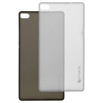 Huawei P8 4smarts Bellevue Clip Ultraohut Kotelosarja Musta & Valkoinen
