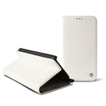 Huawei P8 Ksix Taitettava Kotelo Valkoinen