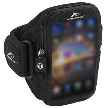 Huawei P8 Lite Armpocket Ultra i-35 Käsivarsikotelo S Musta